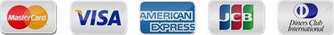 MasterCard・VISA・AMEX・DinersClub・JCBのロゴ