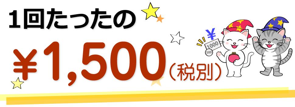 1回たったの1,500円(税別)